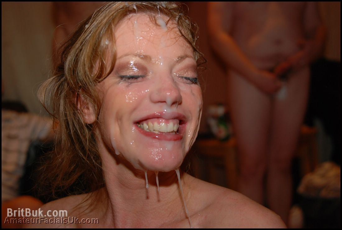Holly SMILING with Cum On Her Face