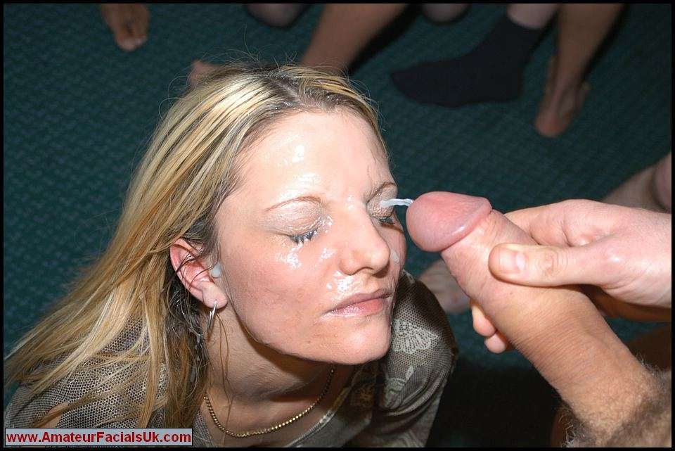 girls wanking spunk on their faces