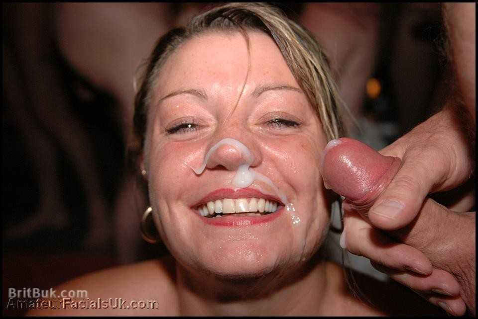 Chubby MILF makes her face GLOW with SEMEN!