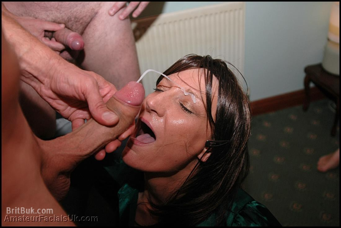Woman Covered With Cum
