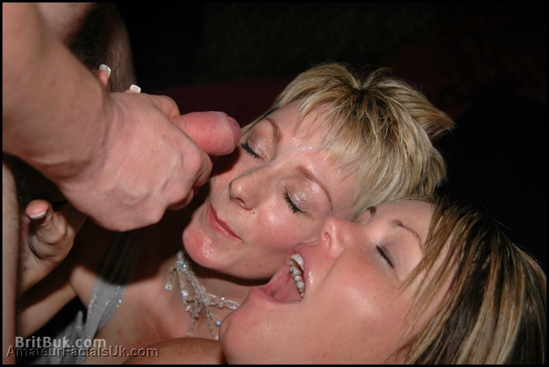 British Milf Bukkake Party with Jade & Abbey
