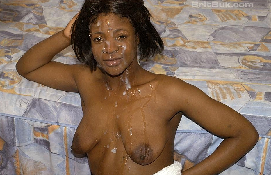 Amateur ebony facials