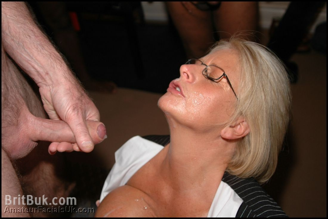 Mature british cum facials