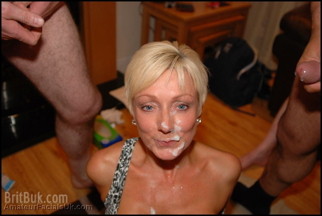 Cum on her face after good hard fucking 10