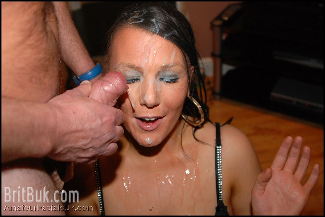 Massive cumshot facial