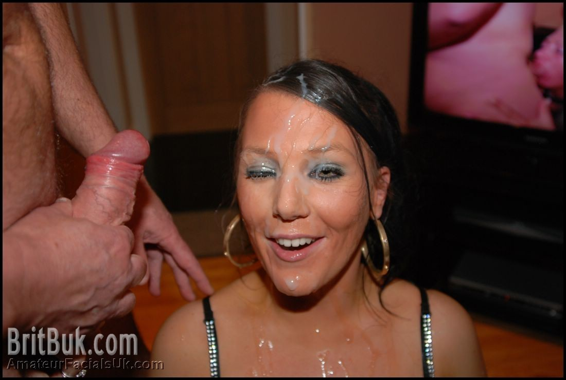 uk mature facial cum