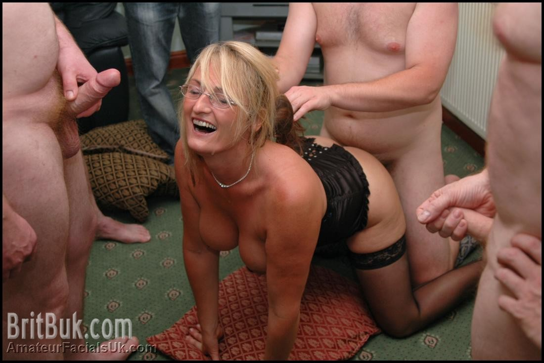 Slutload british amateur bukkake