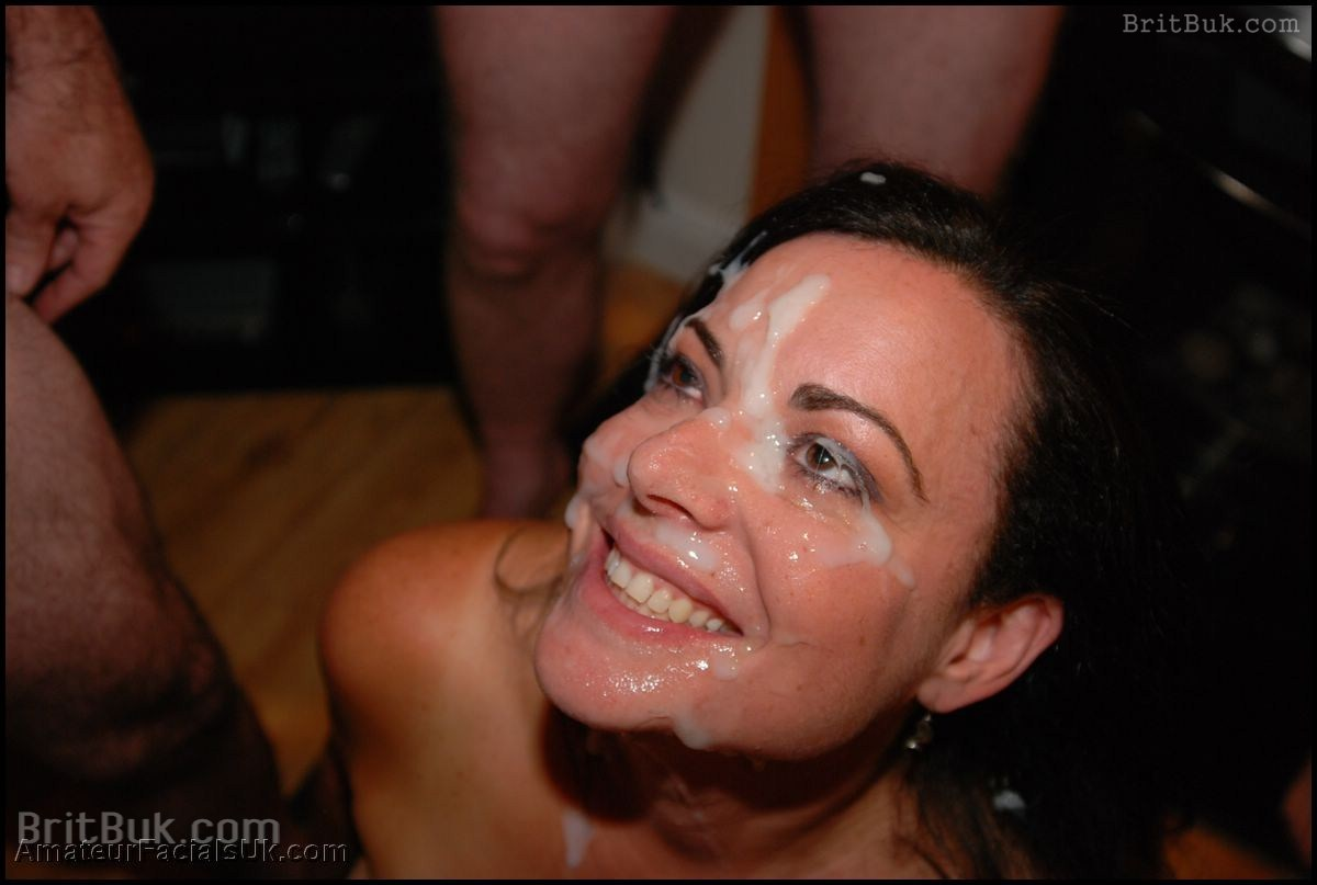 Mature bukkake facials