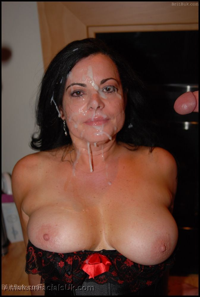 mature face cum