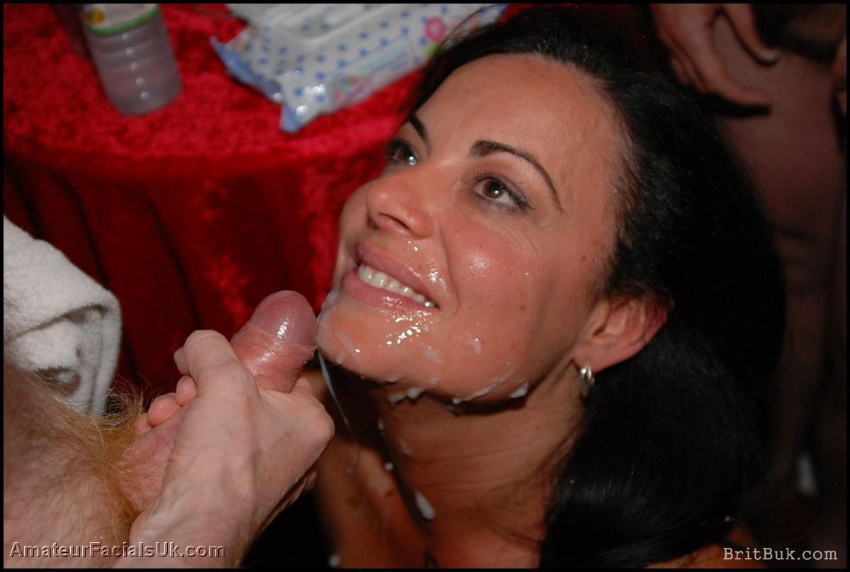 cum facial party