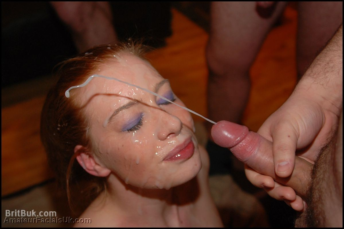 hot naked girl with cum on face