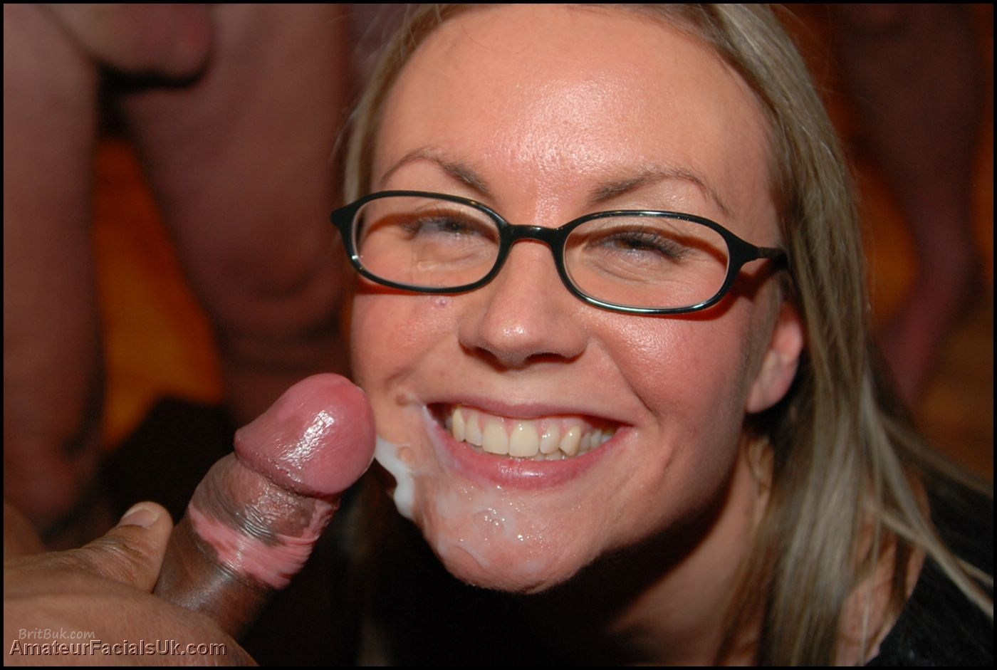 British women facial cumshot