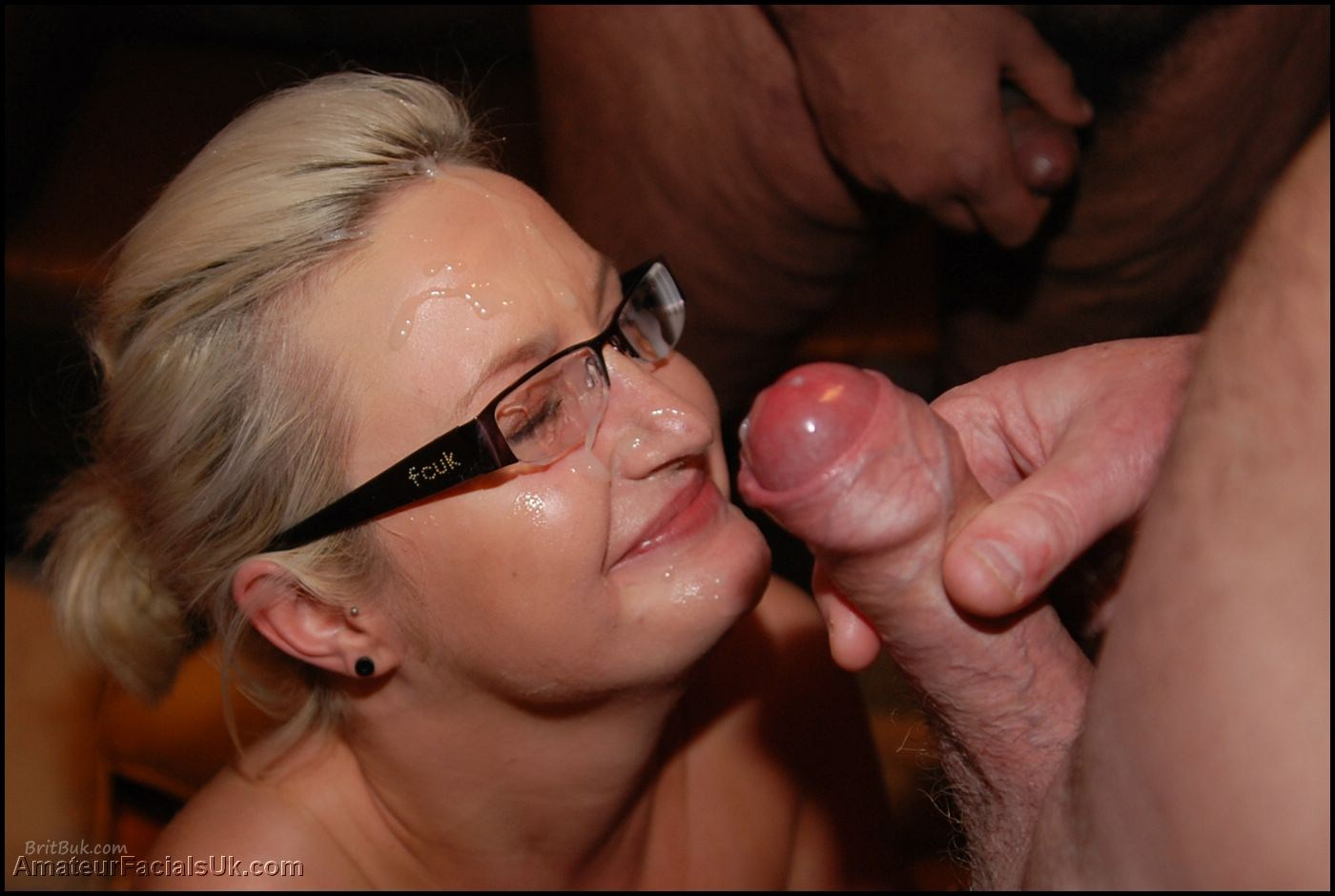 image Blonde whore sucks and takes two cocks outdoors