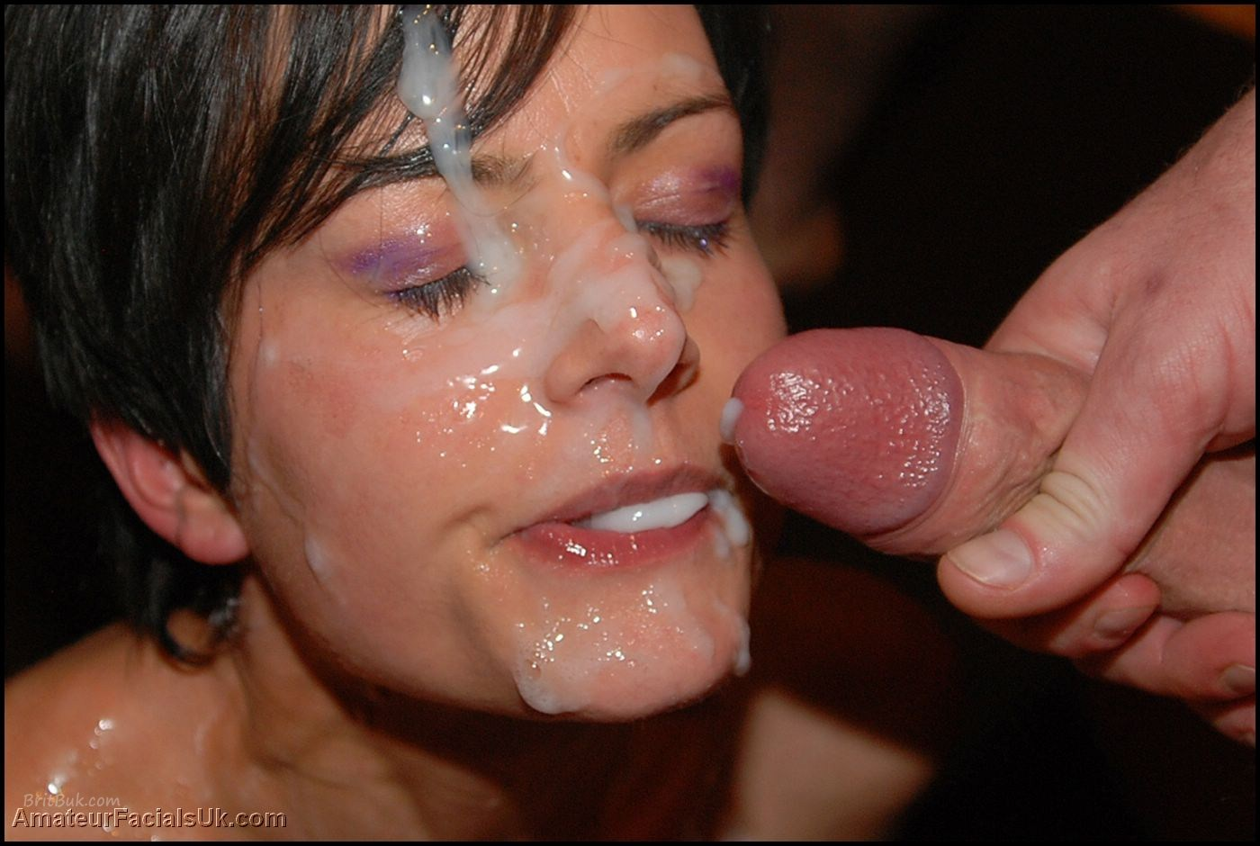 Very grateful Amateur facial cumshot