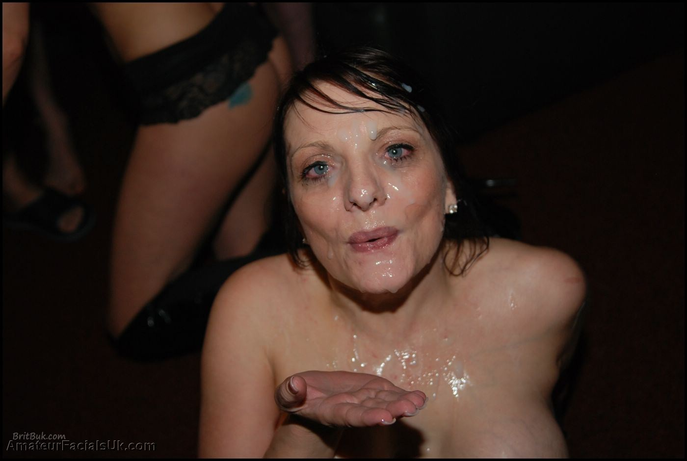 KerryCreamedBritishBrunette BUKKAKE samplesBRITBUK014 Milf Kerry Takes a Cum Bath, She Loves Bukkake as much as We!