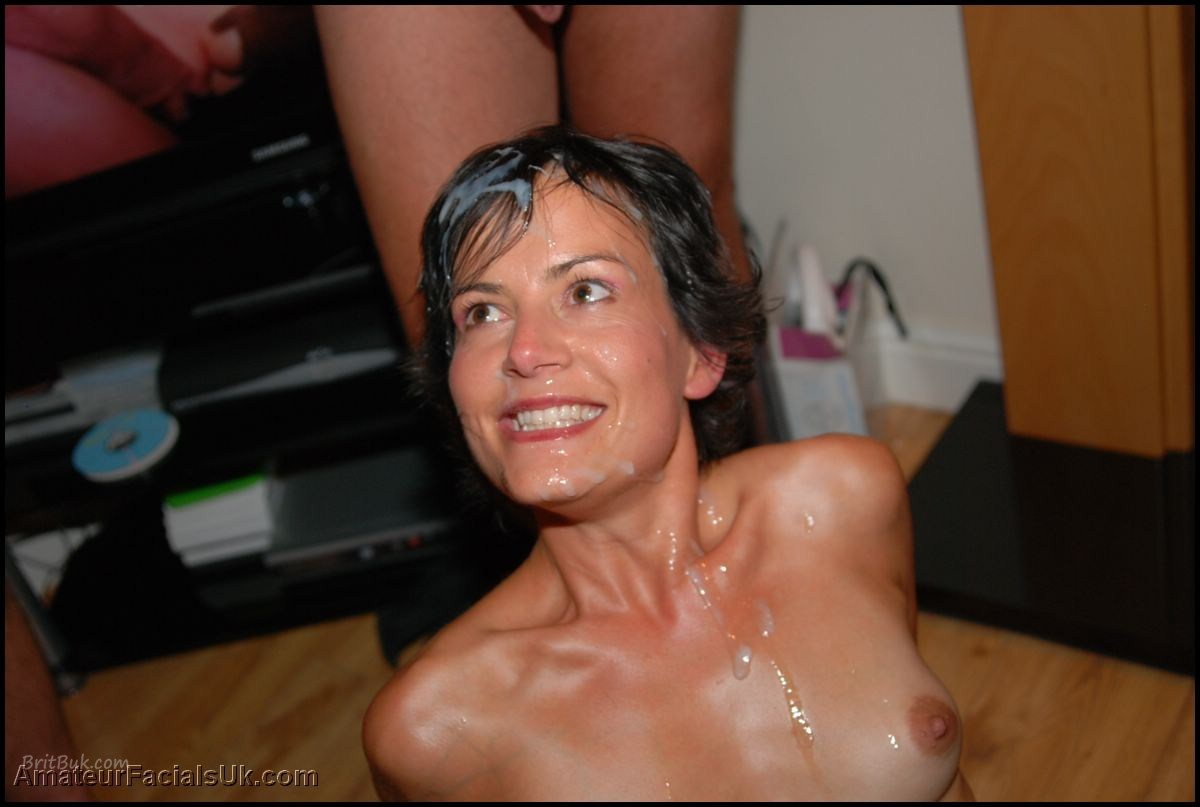 image German mom loves cum on her pretty face and massive tits german goo girls