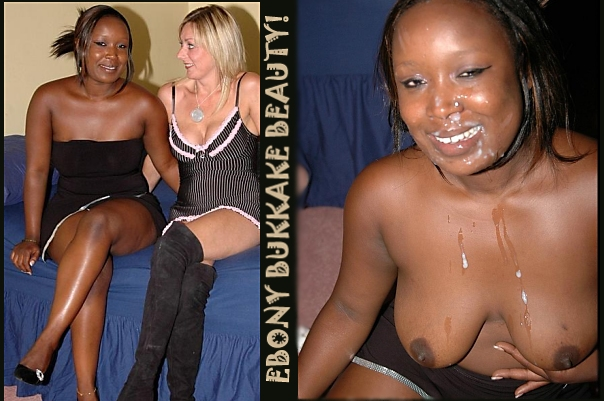 ebony bukkake beauty AFUK