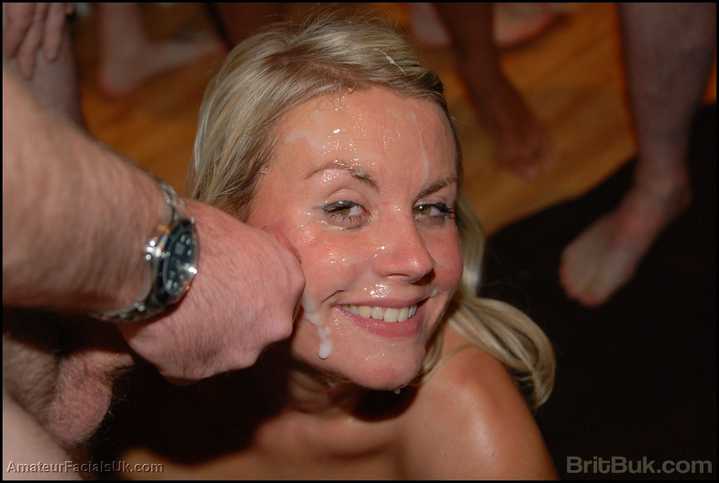 British Blonde Throat Cum
