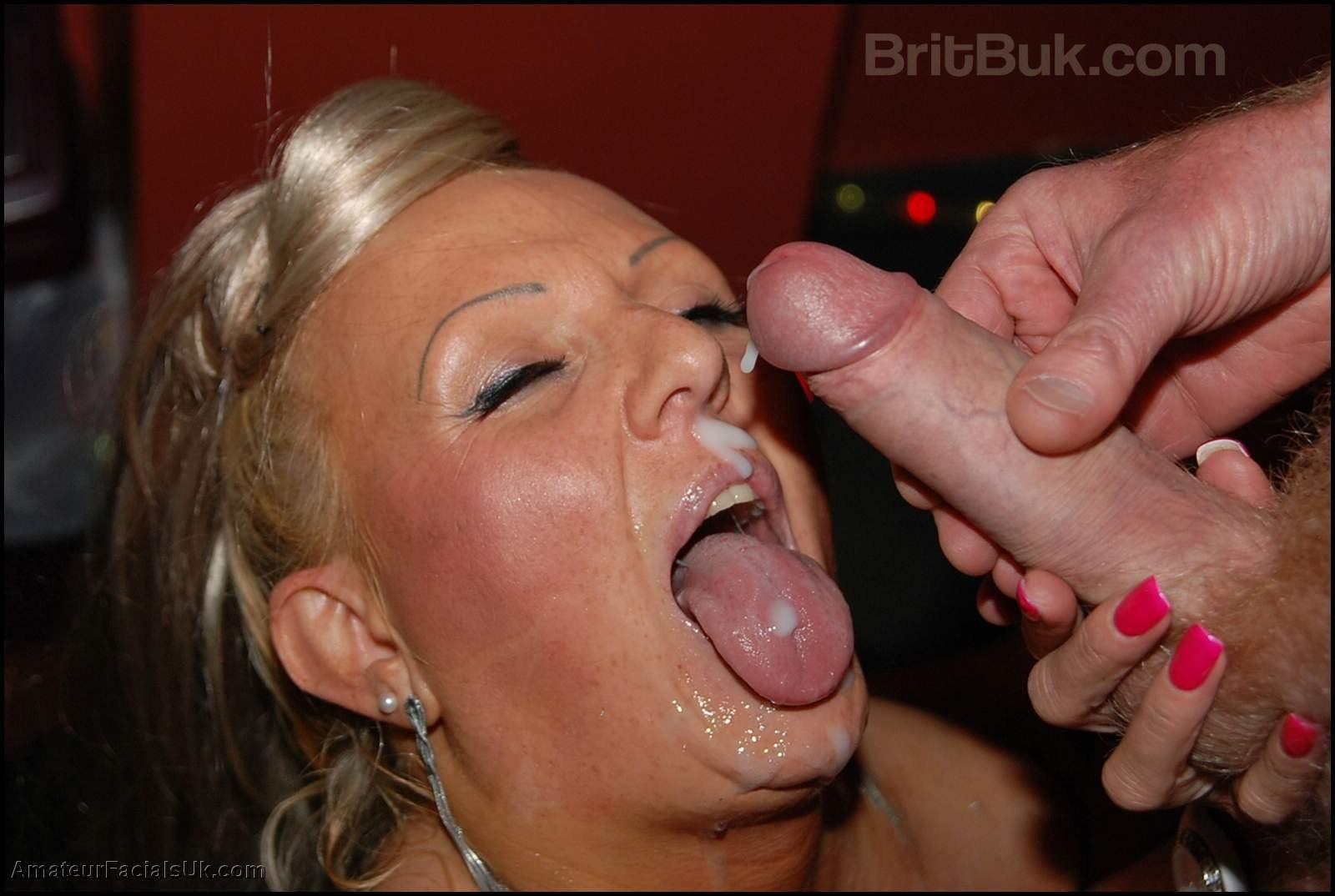 Mature british cum facials theme