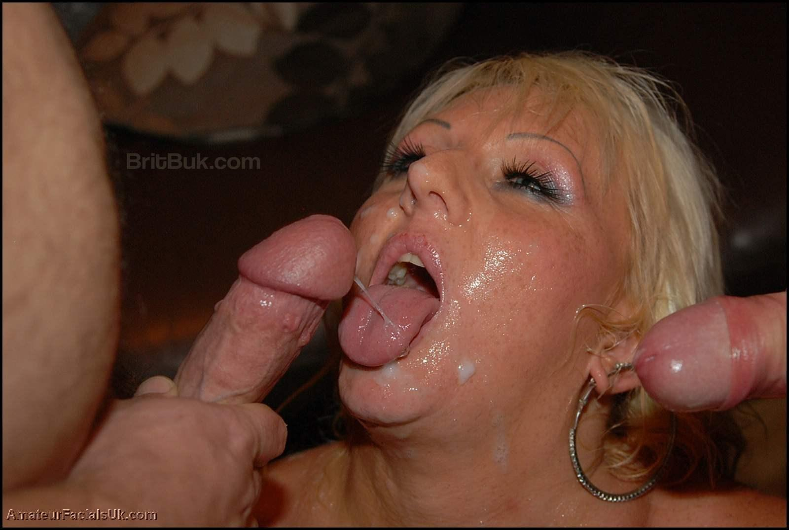 british milf capricce taking creamy facials in an amazing bukkake party