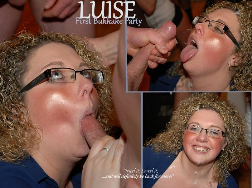 luise 2 Luise, Sweet Curvy MILF First Bukkake (of many to CUM!)