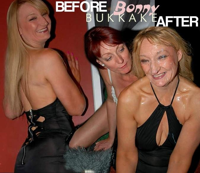 bonny ba  Before & After The Facials., Amateur British Bukkake