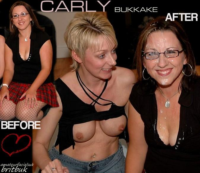 carly2 ba  Before & After The Facials., Amateur British Bukkake