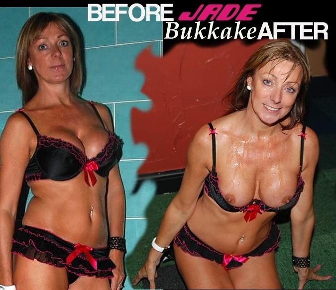 jade ba  Before & After The Facials., Amateur British Bukkake