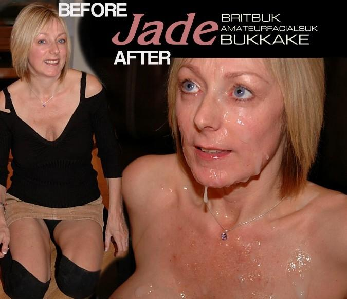 jade2 ba  Before & After The Facials., Amateur British Bukkake