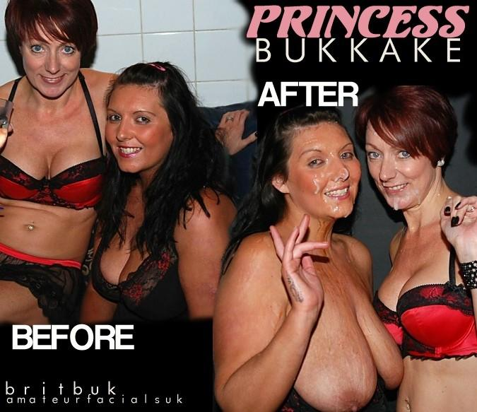 princess ba  Before & After The Facials., Amateur British Bukkake
