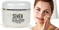 semen used as a facial moisturizer cream